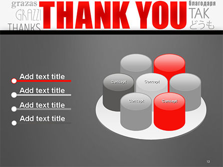 Thank You Word Cloud in Different Languages PowerPoint Template Slide 12