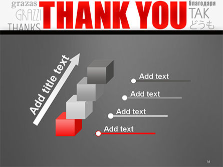 Thank You Word Cloud in Different Languages PowerPoint Template Slide 14