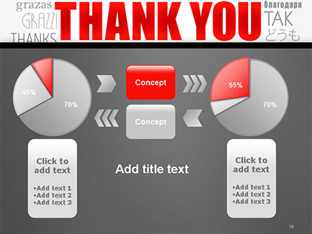Thank You Word Cloud in Different Languages PowerPoint Template Slide 16