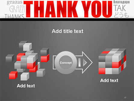 Thank You Word Cloud in Different Languages PowerPoint Template Slide 17