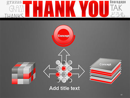 Thank You Word Cloud in Different Languages PowerPoint Template Slide 19