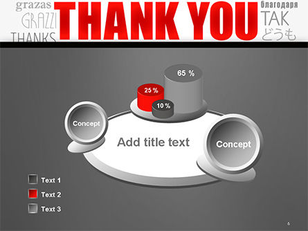 Thank You Word Cloud in Different Languages PowerPoint Template Slide 6