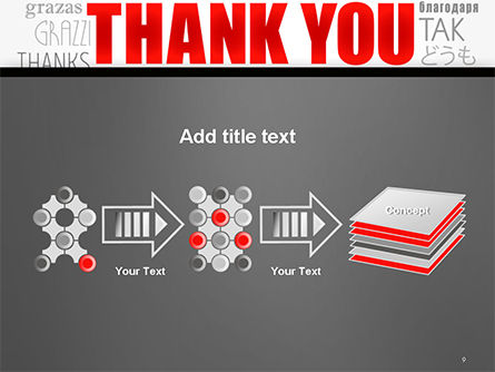 Thank You Word Cloud in Different Languages PowerPoint Template Slide 9
