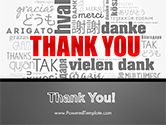 Thank You Word Cloud in Different Languages PowerPoint Template#20