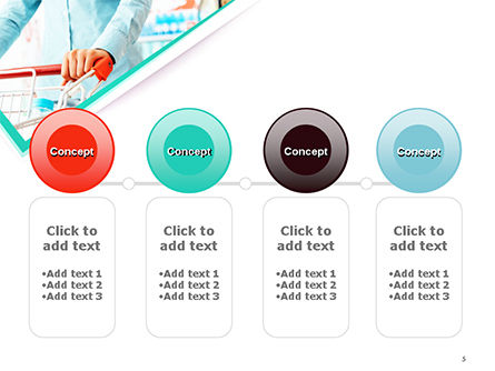 Woman Doing Grocery Shopping at Supermarket PowerPoint Template Slide 5