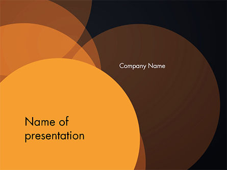 Abstract/Textures: Flat Overlap Spots PowerPoint Template #14754