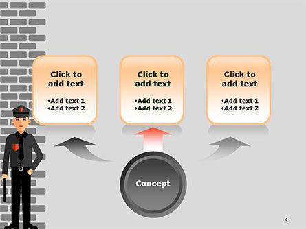 Security Guard Illustration PowerPoint Template, Slide 4, 14755, Legal — PoweredTemplate.com