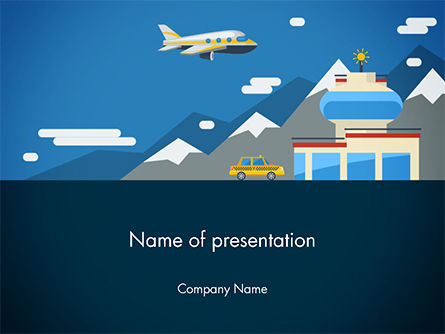 Cars and Transportation: Air Transportation PowerPoint Template #14756