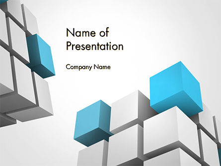 Abstract/Textures: Cubic Theme PowerPoint Template #14757