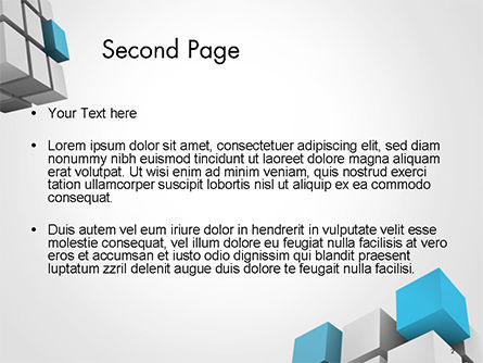 Cubic Theme PowerPoint Template Slide 2