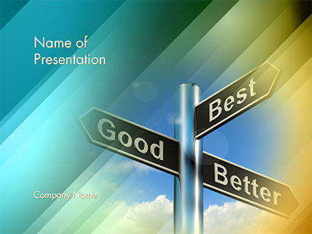 Good Best Better Concept PowerPoint Template, 14758, Consulting — PoweredTemplate.com