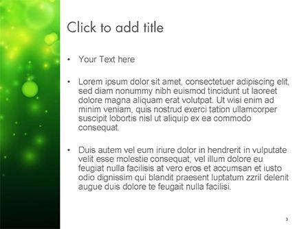 Green Bokeh Light PowerPoint Template, Slide 3, 14761, Abstract/Textures — PoweredTemplate.com