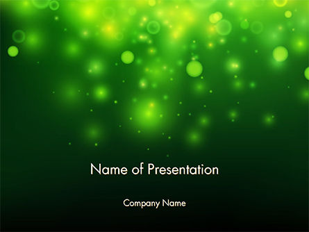 Abstract/Textures: Green Bokeh Light PowerPoint Template #14761