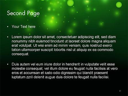 Green Bokeh Light PowerPoint Template Slide 2