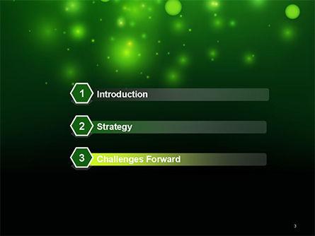 Green Bokeh Light PowerPoint Template Slide 3