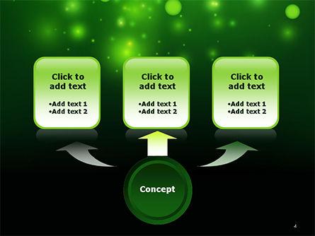 Green Bokeh Light PowerPoint Template Slide 4
