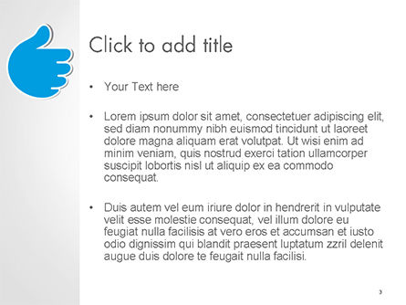 Like and Unlike Hand PowerPoint Template, Slide 3, 14762, Business Concepts — PoweredTemplate.com