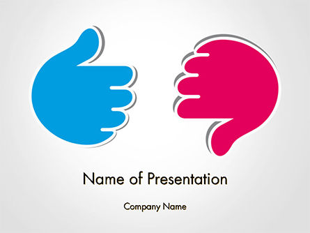 Business Concepts: Like and Unlike Hand PowerPoint Template #14762