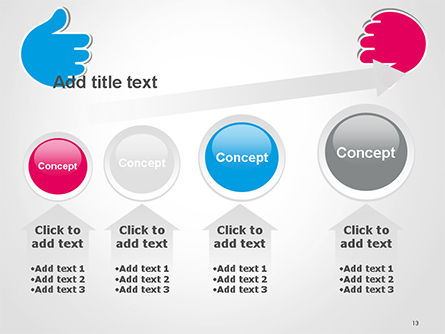 Like and Unlike Hand PowerPoint Template Slide 13
