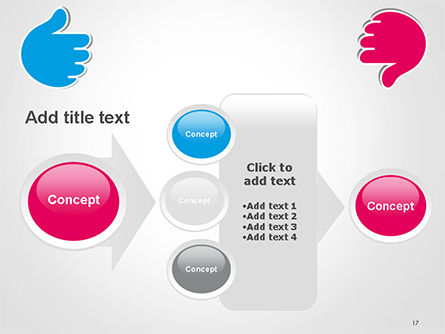 Like and Unlike Hand PowerPoint Template Slide 17