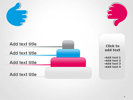 Like and Unlike Hand PowerPoint Template Slide 8