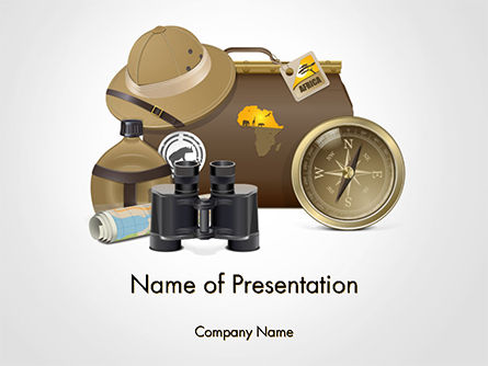 Careers/Industry: Safari Accessories PowerPoint Template #14764