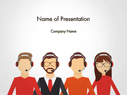 Call Center Staff PowerPoint Template, 14765, People — PoweredTemplate.com