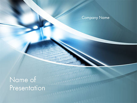 Empty Escalator PowerPoint Template