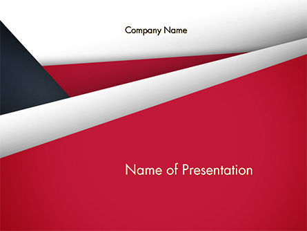 Abstract Background with Red and White Paper Layers PowerPoint Template