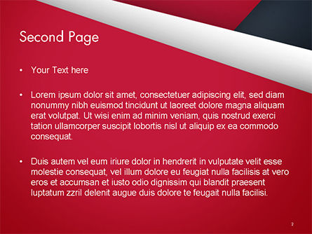 Abstract Background with Red and White Paper Layers PowerPoint Template Slide 2