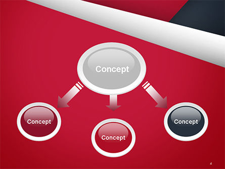 Abstract Background with Red and White Paper Layers PowerPoint Template Slide 4