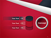 Abstract Background with Red and White Paper Layers PowerPoint Template#11