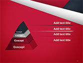 Abstract Background with Red and White Paper Layers PowerPoint Template#12
