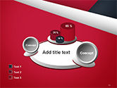 Abstract Background with Red and White Paper Layers PowerPoint Template#16