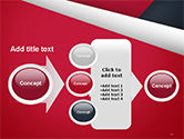 Abstract Background with Red and White Paper Layers PowerPoint Template#17