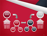 Abstract Background with Red and White Paper Layers PowerPoint Template#19