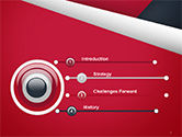 Abstract Background with Red and White Paper Layers PowerPoint Template#3