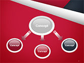 Abstract Background with Red and White Paper Layers PowerPoint Template#4