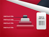 Abstract Background with Red and White Paper Layers PowerPoint Template#8