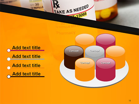 Bottles with Tablets PowerPoint Template Slide 12