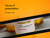 Medical: Bottles with Tablets PowerPoint Template #14769