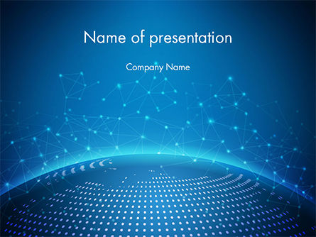 Cyberworld PowerPoint Template, 14770, 3D — PoweredTemplate.com
