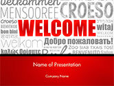Business Concepts: Modello PowerPoint - Welcome word cloud in diverse lingue #14773