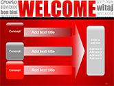 Welcome Word Cloud in Different Languages PowerPoint Template#12