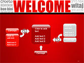 Welcome Word Cloud in Different Languages PowerPoint Template#13