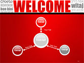 Welcome Word Cloud in Different Languages PowerPoint Template#14