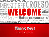 Welcome Word Cloud in Different Languages PowerPoint Template#20
