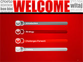 Welcome Word Cloud in Different Languages PowerPoint Template#3