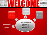Welcome Word Cloud in Different Languages PowerPoint Template#7