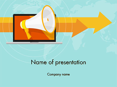 Online Promotion PowerPoint Template, 14774, Careers/Industry — PoweredTemplate.com